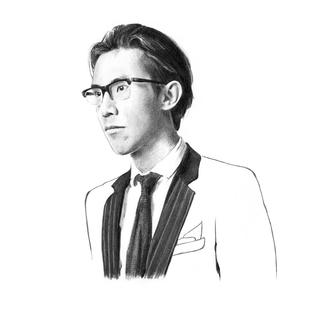 Pencil portrait of Ed Tang
