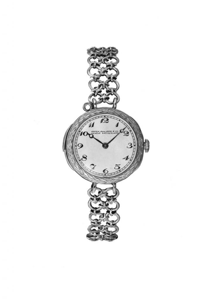 illustration of a patek philippe ladies wristwatch