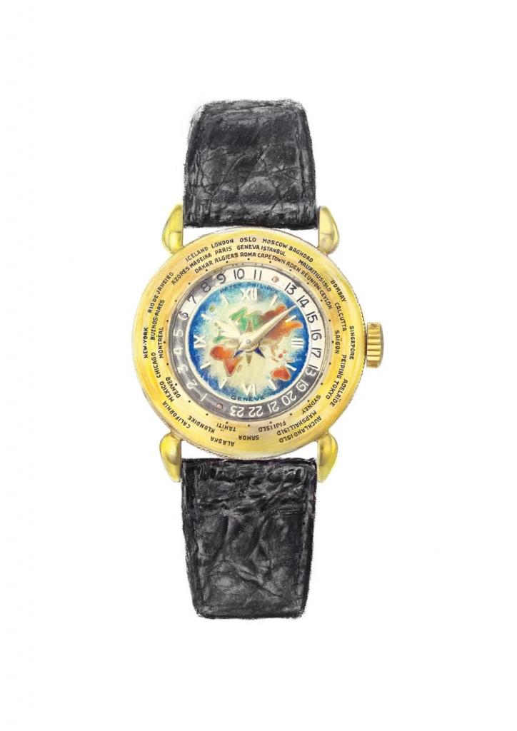 illustration of a Patek Philippe wristwatch