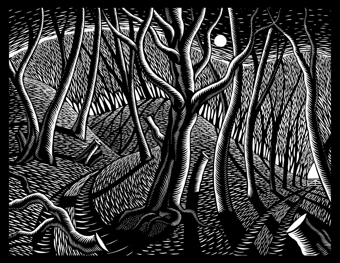 Illustration from Nick Hayes: The Book of Trespass